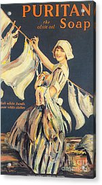 Puritan 1910s Uk Washing Powder Acrylic Print by The Advertising Archives