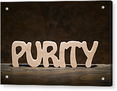 Purity Acrylic Print by Donald  Erickson