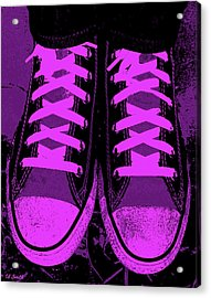 Purpink Acrylic Print by Ed Smith