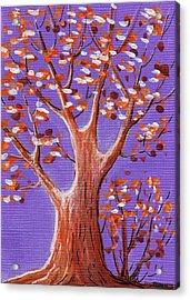 Purple And Orange Acrylic Print by Anastasiya Malakhova