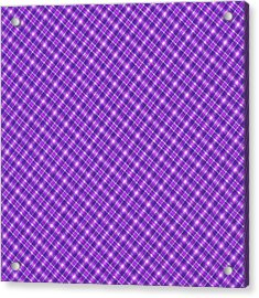 Purple And Pink Diagonal Plaid Pattern Cloth Background Acrylic Print by Keith Webber Jr