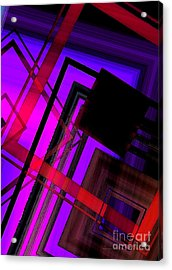Purple And Red Art Acrylic Print by Mario Perez
