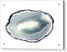 Purple And Teal Agate Stone I Acrylic Print