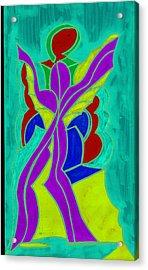 Purple Angel  Acrylic Print by Ken Gidge