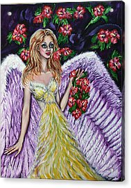 Purple Angel Of Love  Acrylic Print