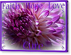 Purple Awareness Support Acrylic Print