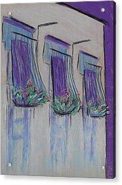 Purple Balconies Acrylic Print by Marcia Meade