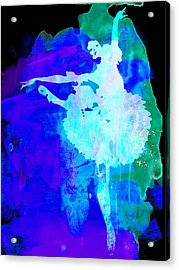 Purple Ballerina Watercolor Acrylic Print