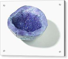 Purple-blue Geode Acrylic Print