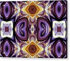 Purple Boudoir Acrylic Print by Georgiana Romanovna