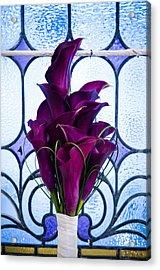 Purple Calla Lilies Acrylic Print