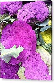 Purple Cauliflower Acrylic Print by Susan Garren