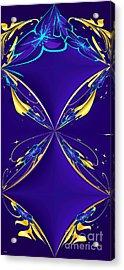 Purple Diamonds Acrylic Print by Liane Wright