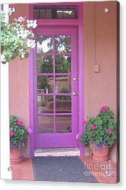 Acrylic Print featuring the photograph Purple Door by Dora Sofia Caputo Photographic Art and Design