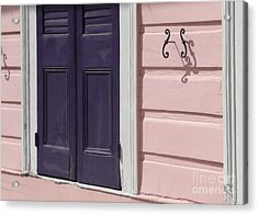 Acrylic Print featuring the photograph Purple Door by Valerie Reeves