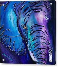 Purple Elephant Acrylic Print
