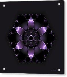Purple Fantasy Flower Acrylic Print by Judi Suni Hall