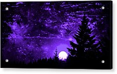 Purple Fantasy Sunset Acrylic Print