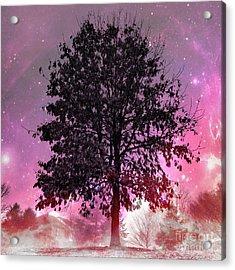 Purple Fever Acrylic Print by Chris Scroggins