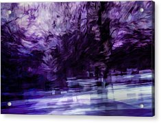 Purple Fire Acrylic Print by Scott Norris