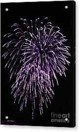 Purple Fire  Acrylic Print by Yumi Johnson