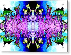 Purple Flower Abstract Acrylic Print by Marianne Dow