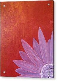 Purple Flower - Red Metallic Background Acrylic Print