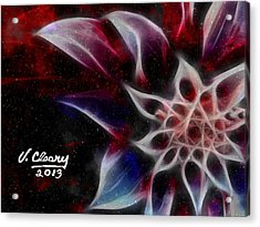Purple Flower Acrylic Print by Virginia Cleary