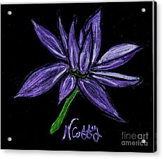 Purple Flowers Acrylic Print by Neil Stuart Coffey