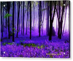 Purple Forest Acrylic Print