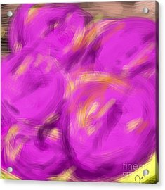 Purple Fruit Acrylic Print by James Eye