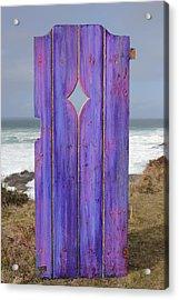Purple Gateway To The Sea  Acrylic Print by Asha Carolyn Young