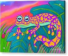 Purple Gecko Acrylic Print by Nick Gustafson