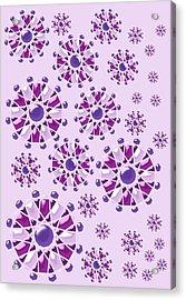 Purple Gems Acrylic Print by Anastasiya Malakhova