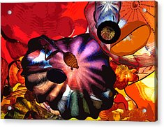 Acrylic Print featuring the digital art Purple Glass In Sea Of Red by Kirt Tisdale