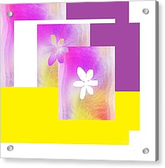 Purple Glow Flower Acrylic Print