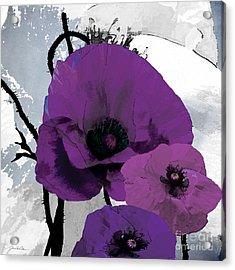 Purple Grey Poppy B Acrylic Print