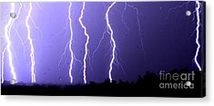 Purple Rain Lightning Acrylic Print