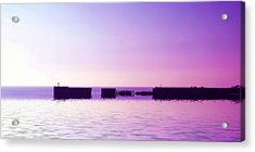 Purple Harbor Acrylic Print by Sharon Lisa Clarke