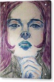 Purple Haze Acrylic Print by Agata Suchocka-Wachowska