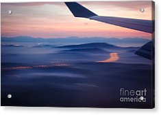 Purple Haze - Atmospheric View Of Early Morning Mist Acrylic Print by David Hill