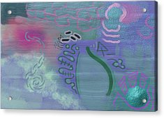Purple Haze Between The Clouds Acrylic Print by Lazaros