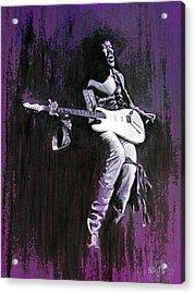 Purple Haze - Hendrix Acrylic Print by William Walts