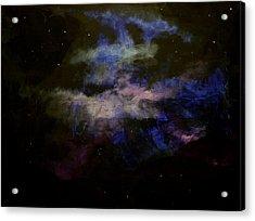 Purple Haze Acrylic Print by Kathy Peltomaa Lewis