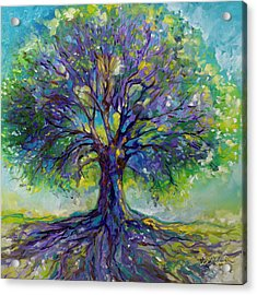 Purple Heart Tree Of Life Acrylic Print