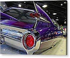 Purple Kustom Kadillac Acrylic Print