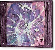 Purple Leaves Acrylic Print by Nora Padar