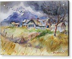 Purple Lone Cone Ranch Acrylic Print