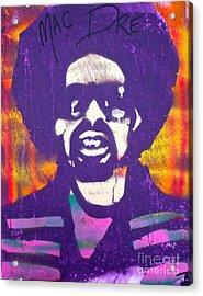 Purple Mac Dre Acrylic Print by Tony B Conscious