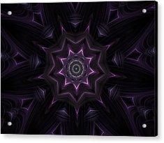 Purple Majestry Kaleidoscope Acrylic Print